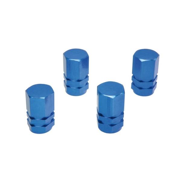 Ozdobné kryty ventilov modré hranaté