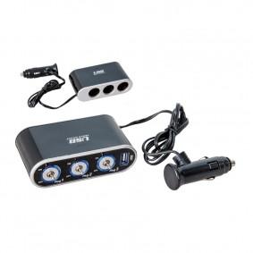 Roztrojka s USB a vypínačom krabica