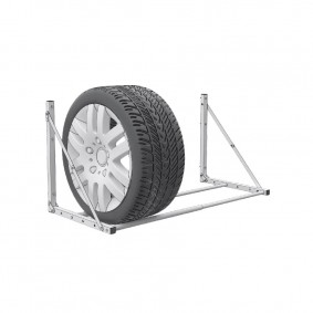 Stojan na pneumatiky nástenný sklápací