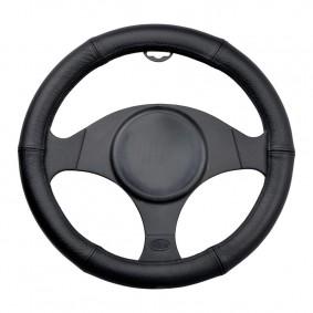 Poťah volantu koža 35-37cm čierny