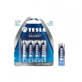 TESLA AA SILVER+ Alkaline 4ks blister