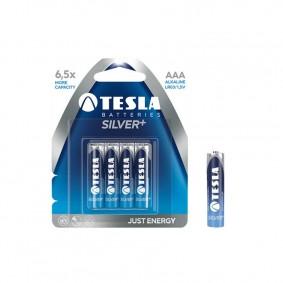 TESLA AAA SILVER+ Alkaline 4ks blister