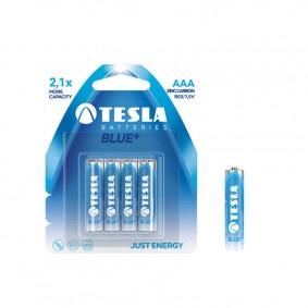 TESLA AAA BLUE+ Zinc Carbon 4ks blister