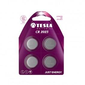 TESLA CR2025 Lithium 4ks blister