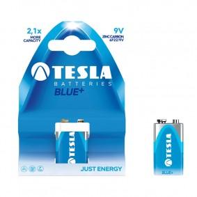 TESLA 9V BLUE+ Zinc Carbon 1ks blister