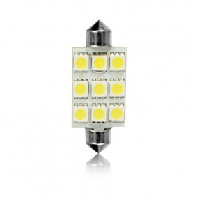 Žiarovka T11 44mm FESTOON 9LED-5050SMD BC 2ks