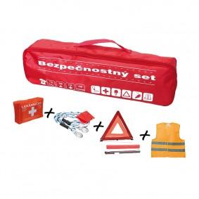 Bezpečnostný set, taška červená